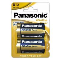 Set 2 baterii alcaline Panasonic, LR20, blister