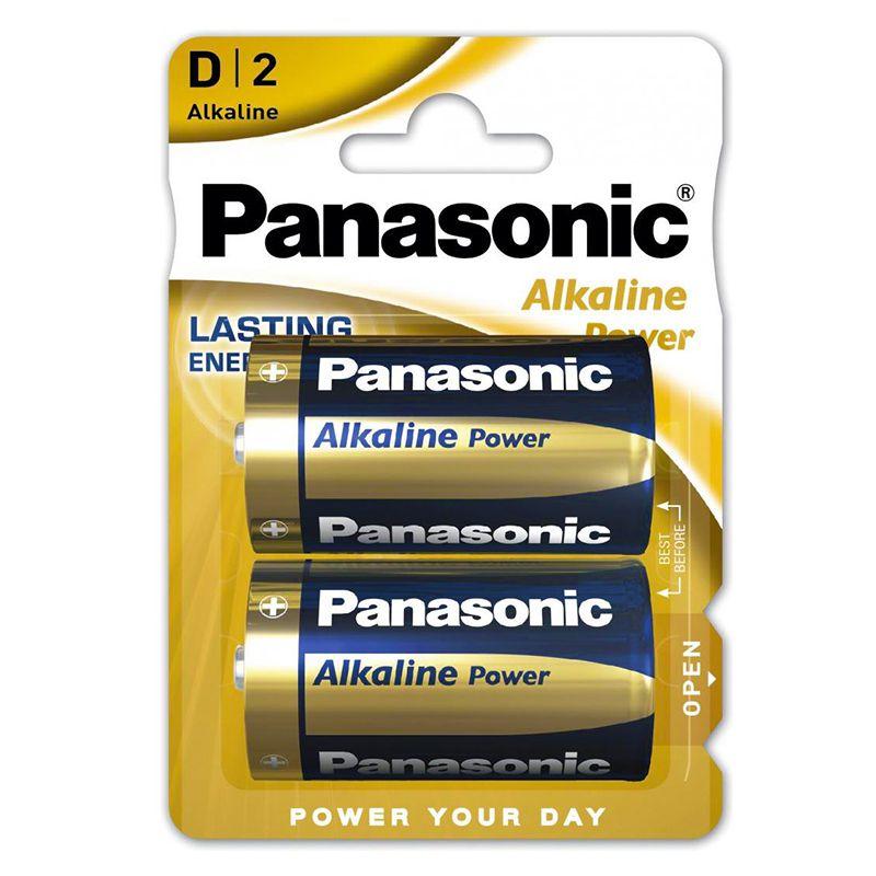 Set 2 baterii alcaline Panasonic, LR20, blister 2021 shopu.ro