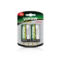 Baterie alcalina Vipow R20, 1.5V, 2 bucati