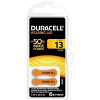 Baterie auditiva Blister 13 Duracell, 1.4 V, 6 bucati