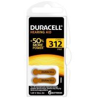 Baterie auditiva Blister HA312 Duracell, 1.4 V, 6 bucati
