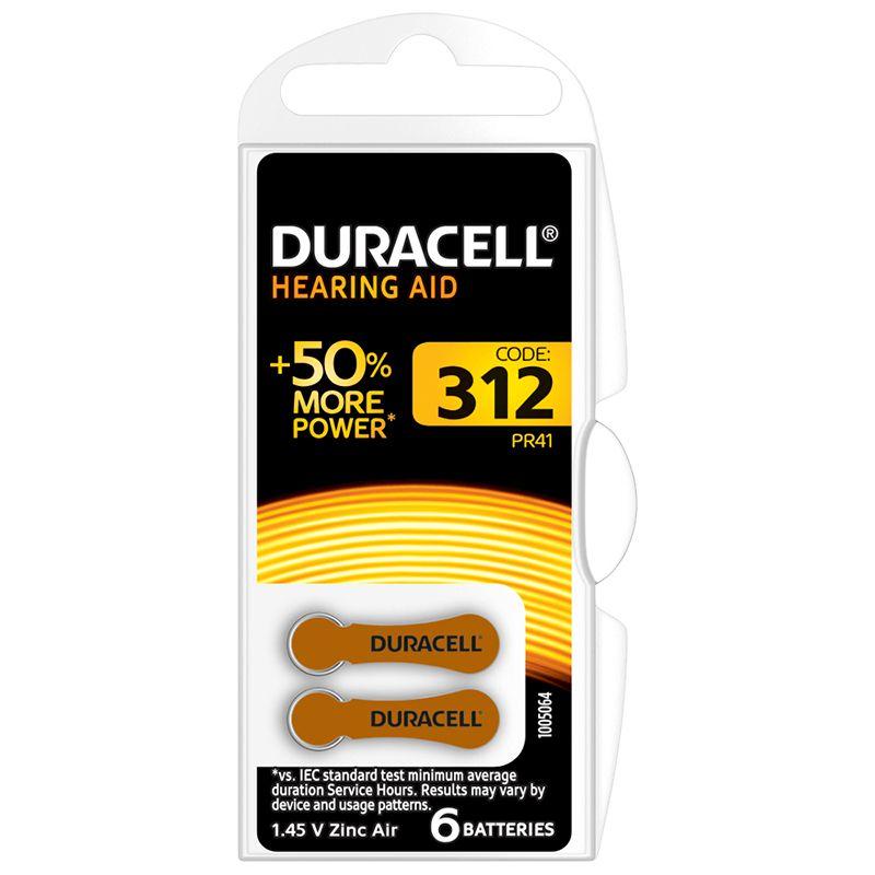 Baterie auditiva Blister HA312 Duracell, 1.4 V, 6 bucati 2021 shopu.ro