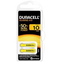 Baterie auditiva Blister 10 Duracell, 1.4 V, 6 bucati