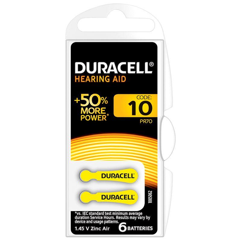 Baterie auditiva Blister 10 Duracell, 1.4 V, 6 bucati 2021 shopu.ro