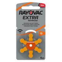 Set baterii Rayovac 13 pentru aparate auditive, 6 bucati