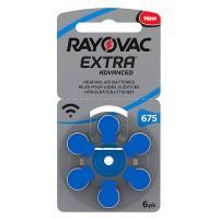 Set baterii Rayovac 675 pentru aparate auditive, 6 bucati