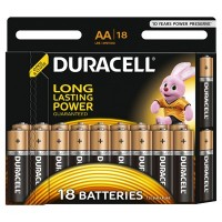 Set 18 baterii Duracell Basic, tip AA