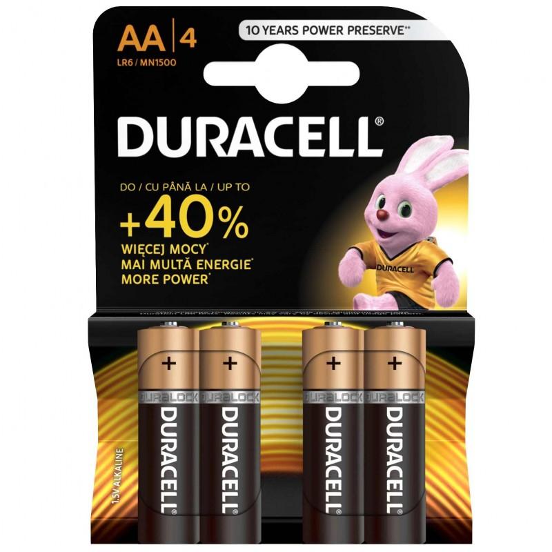 Set 4 baterii Duracell Basic, tip AA 2021 shopu.ro