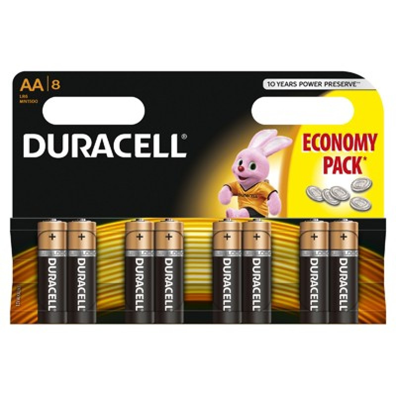 Set 8 baterii Duracell Basic, tip AA LR06 2021 shopu.ro