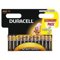 Set 12 baterii Duracell Basic, tip AAA