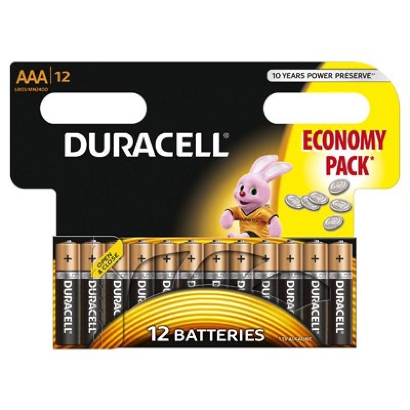 Set 12 baterii Duracell Basic, tip AAA 2021 shopu.ro