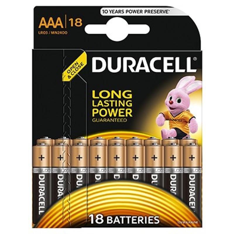 Set 18 baterii Duracell Basic, tip AAA 2021 shopu.ro