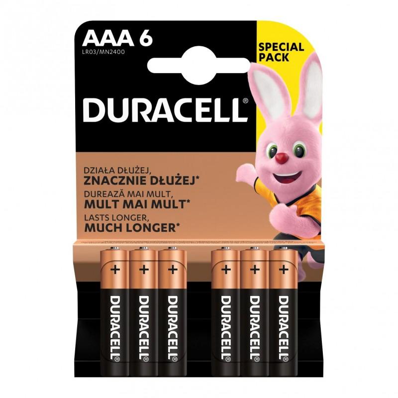 Set 2 baterii Basic AAA Duracell, LR03 2021 shopu.ro