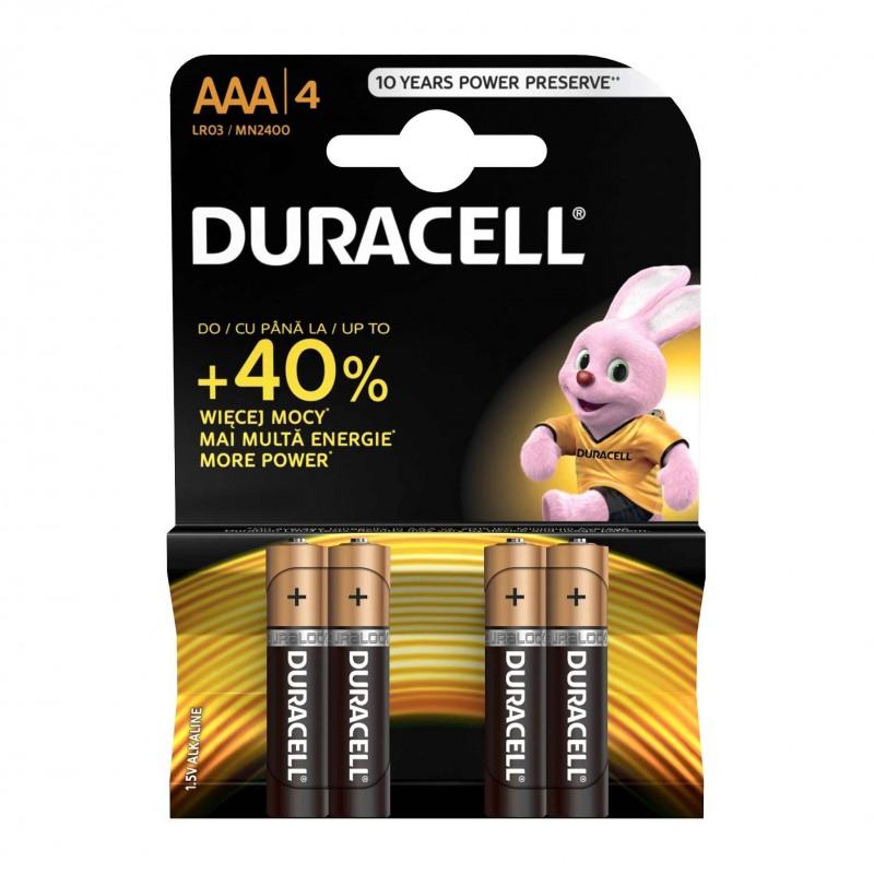 Set 4 baterii Duracell Basic, tip AAA 2021 shopu.ro