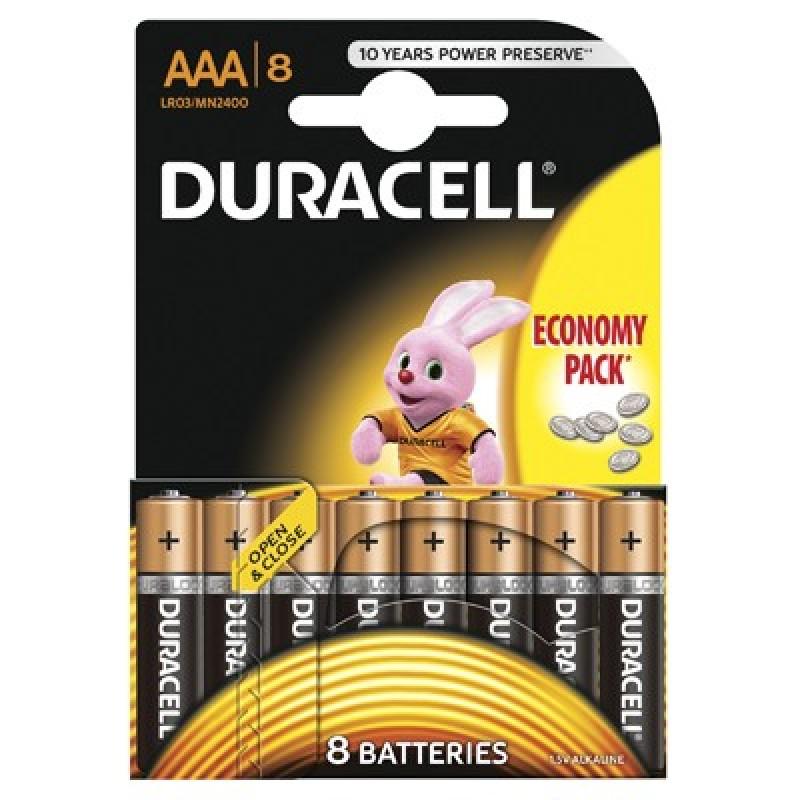 Set 8 baterii Duracell Basic, tip AAA, 9 V 2021 shopu.ro