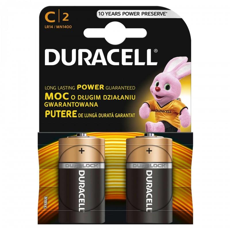 Set 2 baterii Duracell Basic, tip C 2021 shopu.ro
