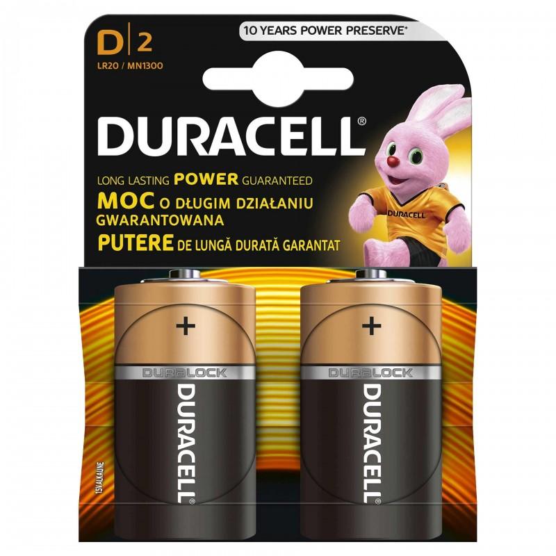 Set 2 baterii Duracell Basic, tip D 2021 shopu.ro