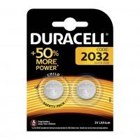 Set 2 baterii 2032 Duracell, 3 V, lithium