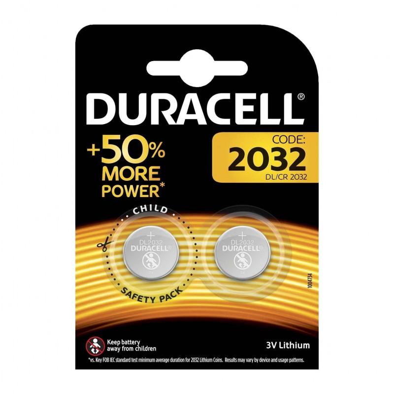 Set 2 baterii 2032 Duracell, 3 V, lithium 2021 shopu.ro