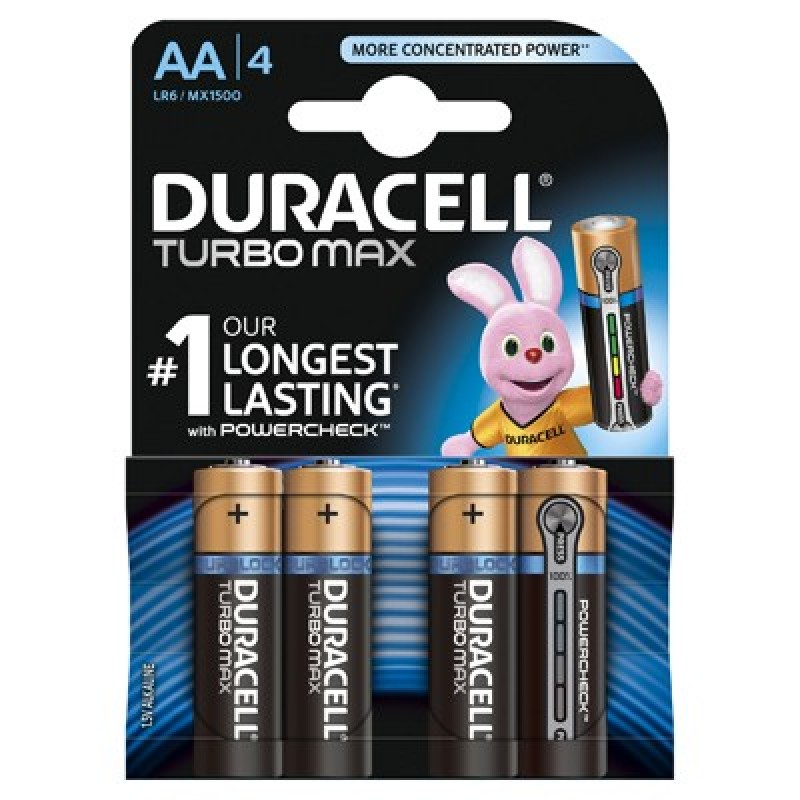 Set baterii Duracell Turbo Max 4 x AA 2021 shopu.ro
