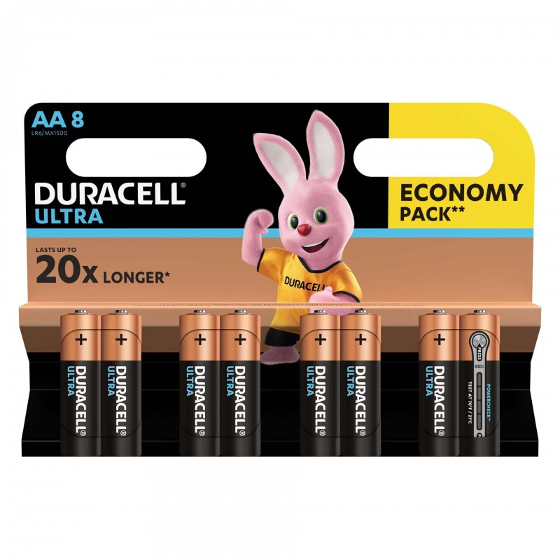 Set 8 baterii Duracell Ultra, tip AA 2021 shopu.ro