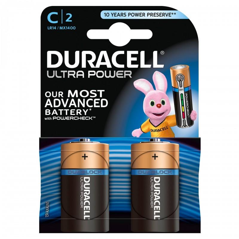 Set 2 baterii Duracell Ultra power, tip C 2021 shopu.ro