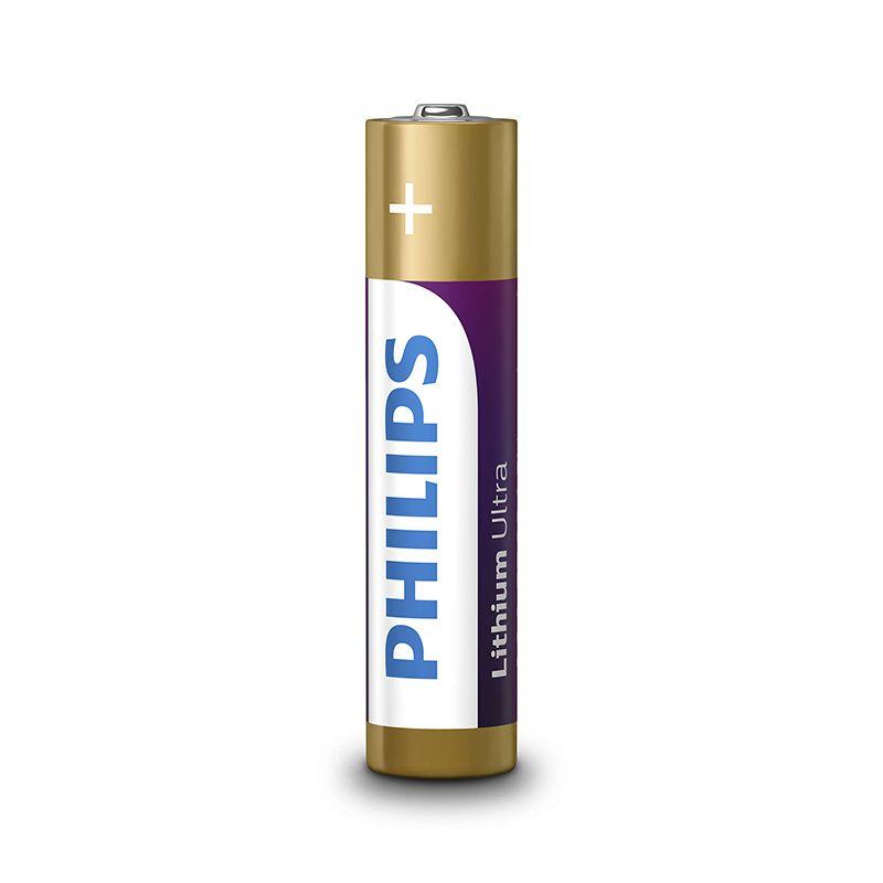 Set 4 baterii Lithium Ultra Philips, AAA, 1.5 V, ambalaj blister 2021 shopu.ro