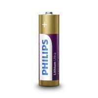 Set 4 baterii Lithium Ultra Philips, LR6 AA, 1.5 V, ambalaj blister