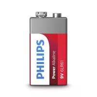 Baterie Power Alkaline Philips, 9 V, 1 bucata