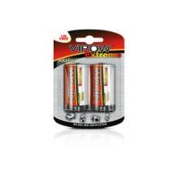 Baterie superalcalina Vipow Extreme, marime D (R20), 1,5V, 2 bucati