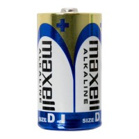 Set 2 baterii alcaline Maxell, 1.5 V, LR20