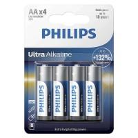 Set baterii Ultra Alkaline Philips, 4 x LR6 AA, 1.5 V