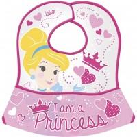 Bavetica impermeabila cu buzunar Princess Lulabi, 0 luni+, Roz