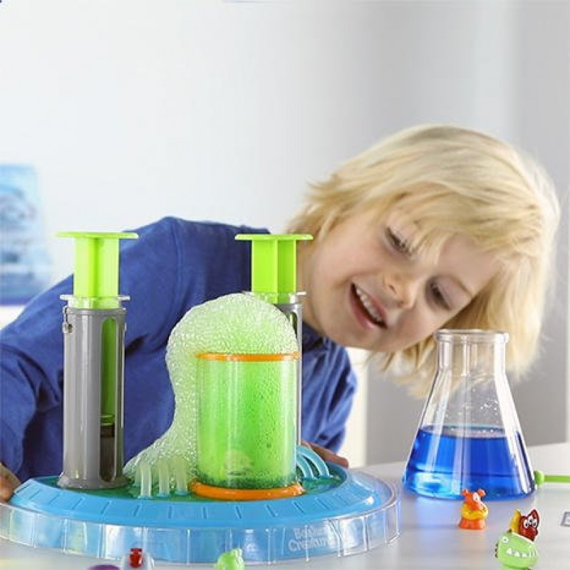 Super Laboratorul Beaker Creatures, 2 carduri, 2 pistoane, 2 pahare de laborator