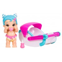 Papusa bebelus Little Live Babies Swirlee, functii, accesorii incluse 5 ani+