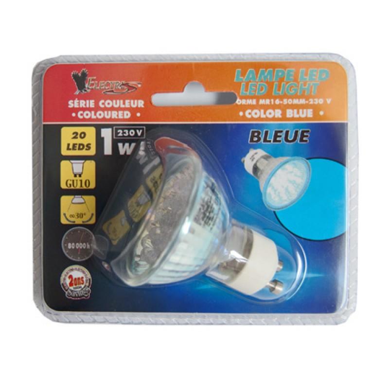 Bec cu 20 LED-uri, 1.5 W, soclu GU10, Galben 2021 shopu.ro