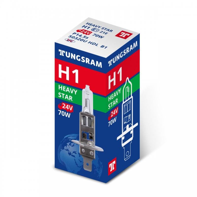 Bec auto H1 Tungsram Heavy Star, 24 V, putere 70 W, P14 5S 2021 shopu.ro