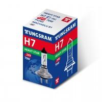 Bec auto halogen H7 Tungsram Heavy Star, 24 V, putere 70 W, PX26D