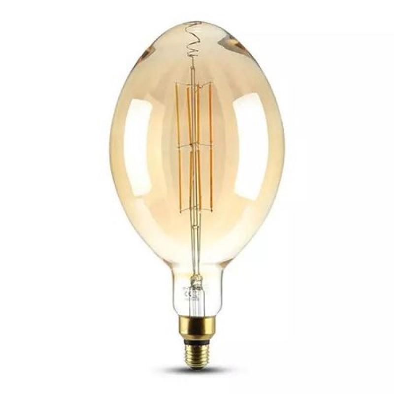 Bec cu filament LED, soclu E27, 8 W, 2000 K, 600 Im, dimabil, lumina alb calda 2021 shopu.ro