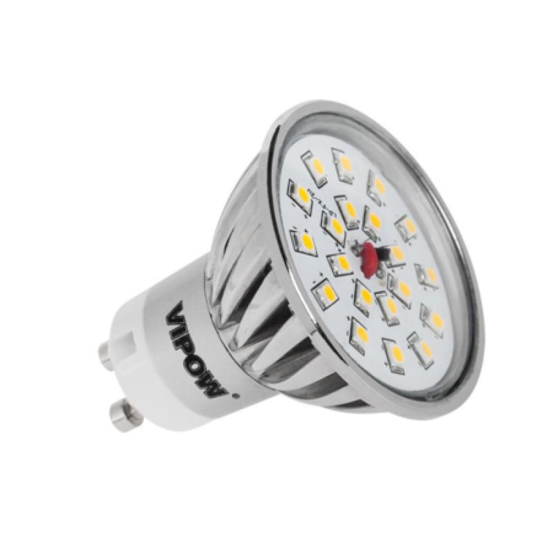 Bec economic Vipow, 20 LED-uri SMD, forma reflector, soclu GU10, 4 W 2021 shopu.ro
