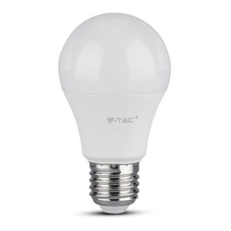 Bec LED V-Tac, A60, E 27, 6.5 W, A++, 4000K , cip samsung, Alb shopu.ro