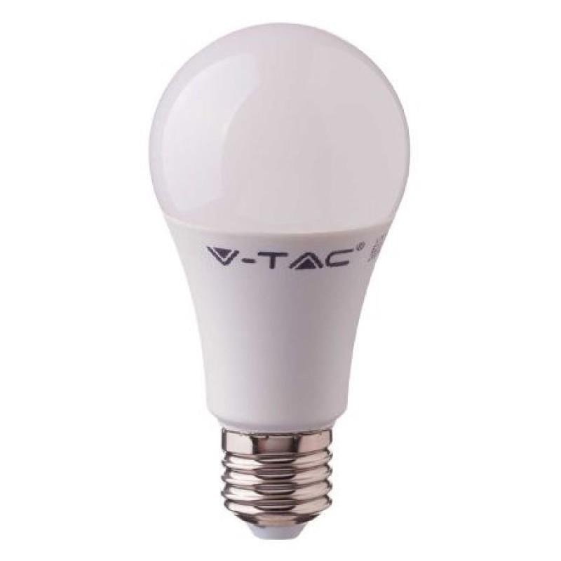 Bec economic cu LED, 9 W, 806 lm, 6400 K, soclu E27, lumina alb rece, cip Samsung, forma A58 2021 shopu.ro