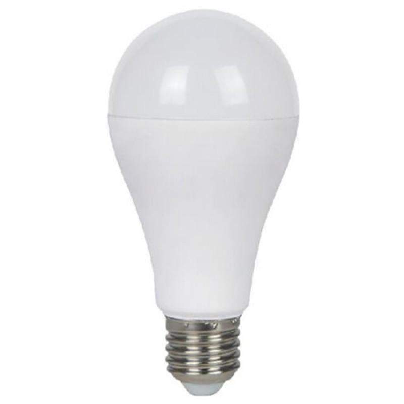 Bec cu LED, 15 W, 1500 lm, 4500 K, soclu E27, lumina alb neutru, forma A65 2021 shopu.ro