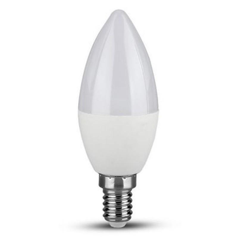 Bec economic cu LED, 4 W, 320 lm, 2700 K, soclu E14, lumina alb cald, forma lumanare 2021 shopu.ro