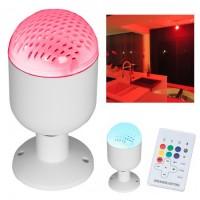 Bec LED RGB V-Tac, 5 W, E 27, bluetooth, 50 Led-uri, 87 x 87 x 140 mm, difuzor incorporat, telecomanda inclusa