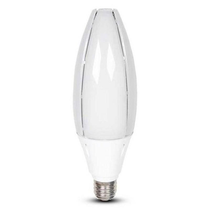 Bec economic LED V-Tac, 60 W, E40, 4800 lumeni, 4000 K, IP20, cip samsung shopu.ro