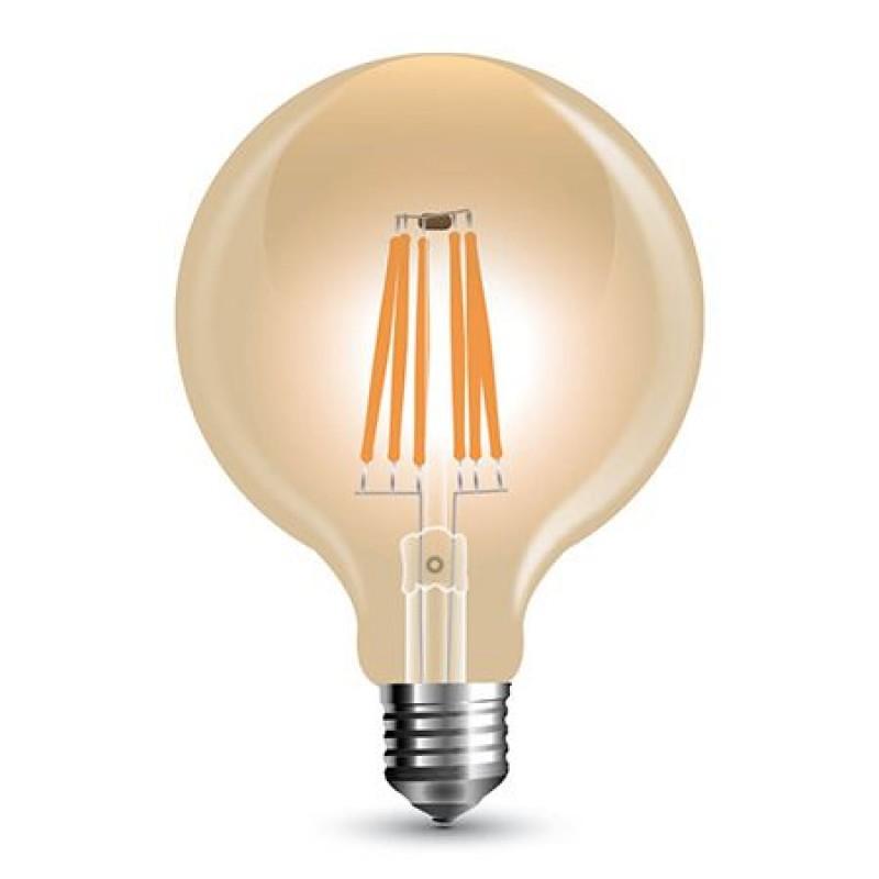 Bec LED, soclu E27, 800 lm, 8 W, 2200 K, alb cald, dimmer shopu.ro