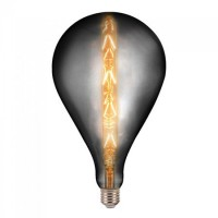 Bec LED cu filament G165, soclu E27, 8 W, temperatura 2200 K, culoare alb cald, model Smoky