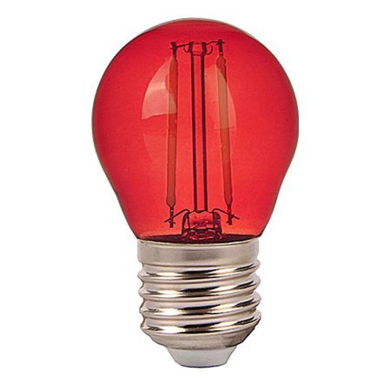 Bec LED, soclu E27, 2 W, 60 lm, lumina rosie 2021 shopu.ro