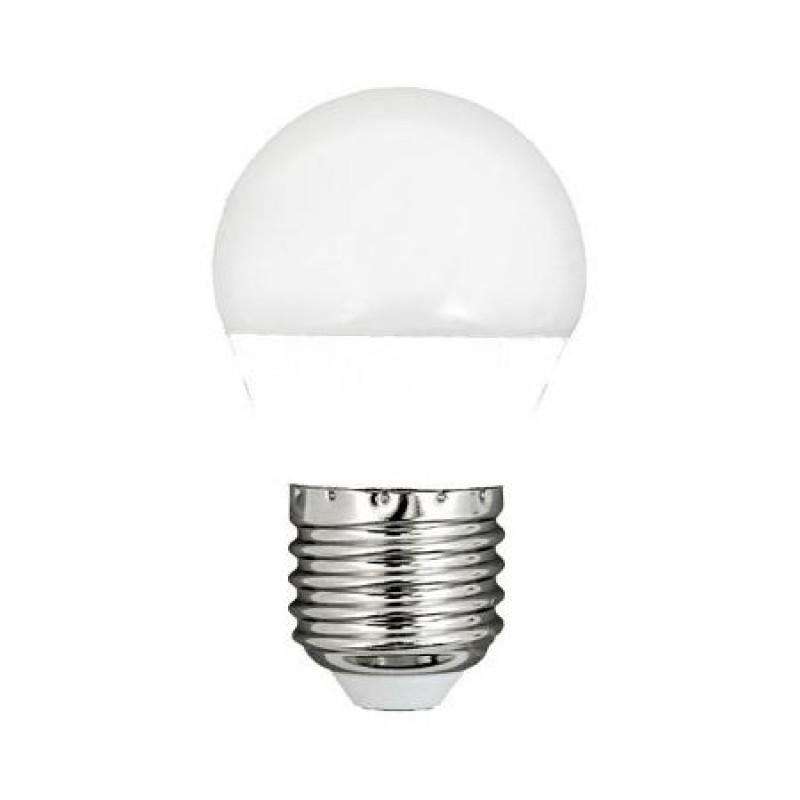 Bec economic cu LED, 5.5 W, 470 lm, 2700 K, soclu E27, lumina alb cald, forma G45 2021 shopu.ro
